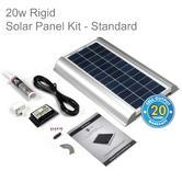 Solar Technology PV Logic 20w Rigid Solar Panel Rooftop Kit - STPMH20|Use MotorHome/ Caravans/ Boats