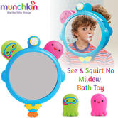 Munchkin See & Squirt No Mildew Toddlers Learning Toy | Clear-Sight Mirror+Octopus