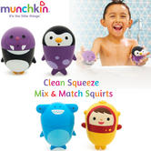 Munchkin Clean Squeeze Mix and Match Bath Squirts | Easy Clean Toddler's Fun Toy