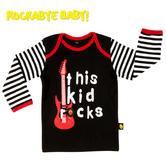 Rockabye Baby Long Sleeve T-Shirt|Super Soft Interlock Cotton|Washable|For 6-12m