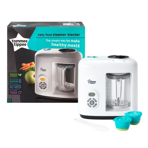 Tommee Tippee Closer to Nature Food Steamer/ Blender | Puree Maker + Freezer Pots | Preserve Nutrients & Flavour Thumbnail 2