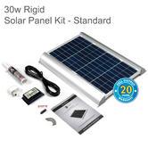 Solar Technology PV Logic 30w Rigid Solar Panel Rooftop Kit - STPMH30|Use MotorHome/ Caravans/ Boats