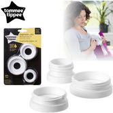 Tommee Tippee Express & Go Breast Pump Adapators 3Pk | Compact & Lightweight | New