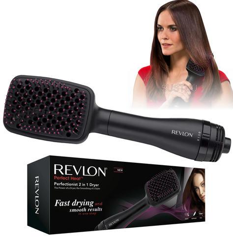 Revlon Perfectionist Paddle Brush Dryer & Styler 2 in 1 | 2 Heat Settings | 1000W | NEW Thumbnail 1