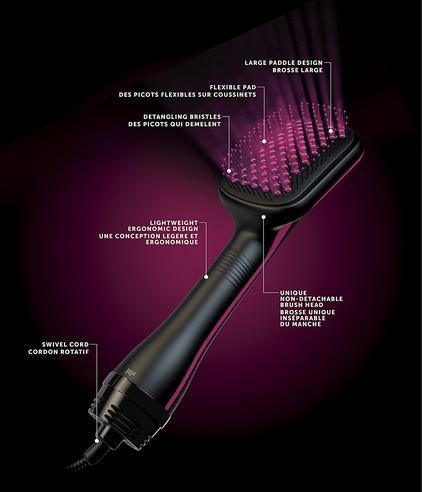 Revlon Perfectionist Paddle Brush Dryer & Styler 2 in 1 | 2 Heat Settings | 1000W | NEW Thumbnail 4
