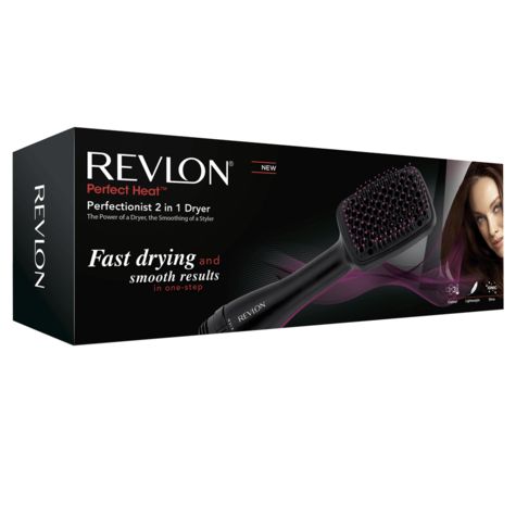 Revlon Perfectionist Paddle Brush Dryer & Styler 2 in 1 | 2 Heat Settings | 1000W | NEW Thumbnail 5