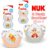 NUK Winnie The Pooh Silicone Soother|BPA Free|OHF Approved|Size 2 For 6-18m|2 PK
