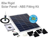 Solar Technology PV Logic STPMH80PB 80W Rigid Solar Panel Rooftop - ABS Fitting |Use MotorHome/ Caravans/ Boats