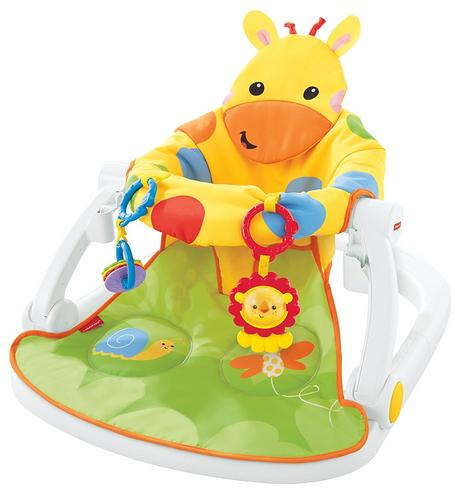 Fisher-Price Giraffe Sit Me Up Floor Seat|Kid's Snack Time Chair Toy|Soft Fabric Thumbnail 2