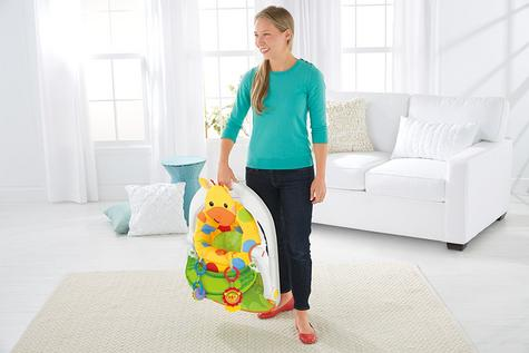 Fisher-Price Giraffe Sit Me Up Floor Seat|Kid's Snack Time Chair Toy|Soft Fabric Thumbnail 3