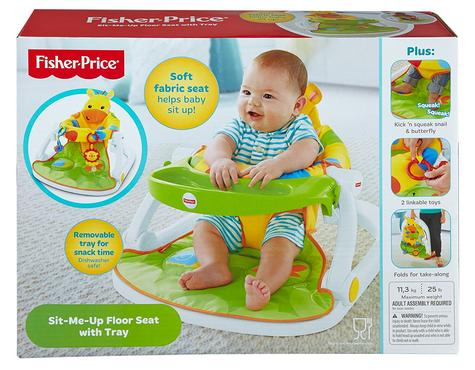 Fisher-Price Giraffe Sit Me Up Floor Seat|Kid's Snack Time Chair Toy|Soft Fabric Thumbnail 4