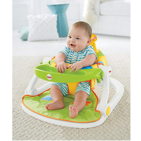 Fisher-Price Giraffe Sit Me Up Floor Seat|Kid's Snack Time Chair Toy|Soft Fabric Thumbnail 6
