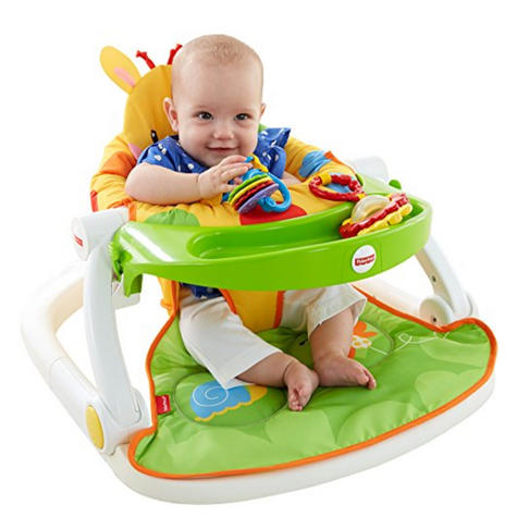 Fisher-Price Giraffe Sit Me Up Floor Seat|Kid's Snack Time Chair Toy|Soft Fabric Thumbnail 7