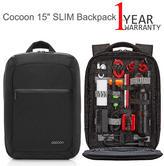 "Cocoon 15"" SLIM Backpack | Upto 15.6"" MacBook/ Laptop | 10"" Tablet Compartment | Black"