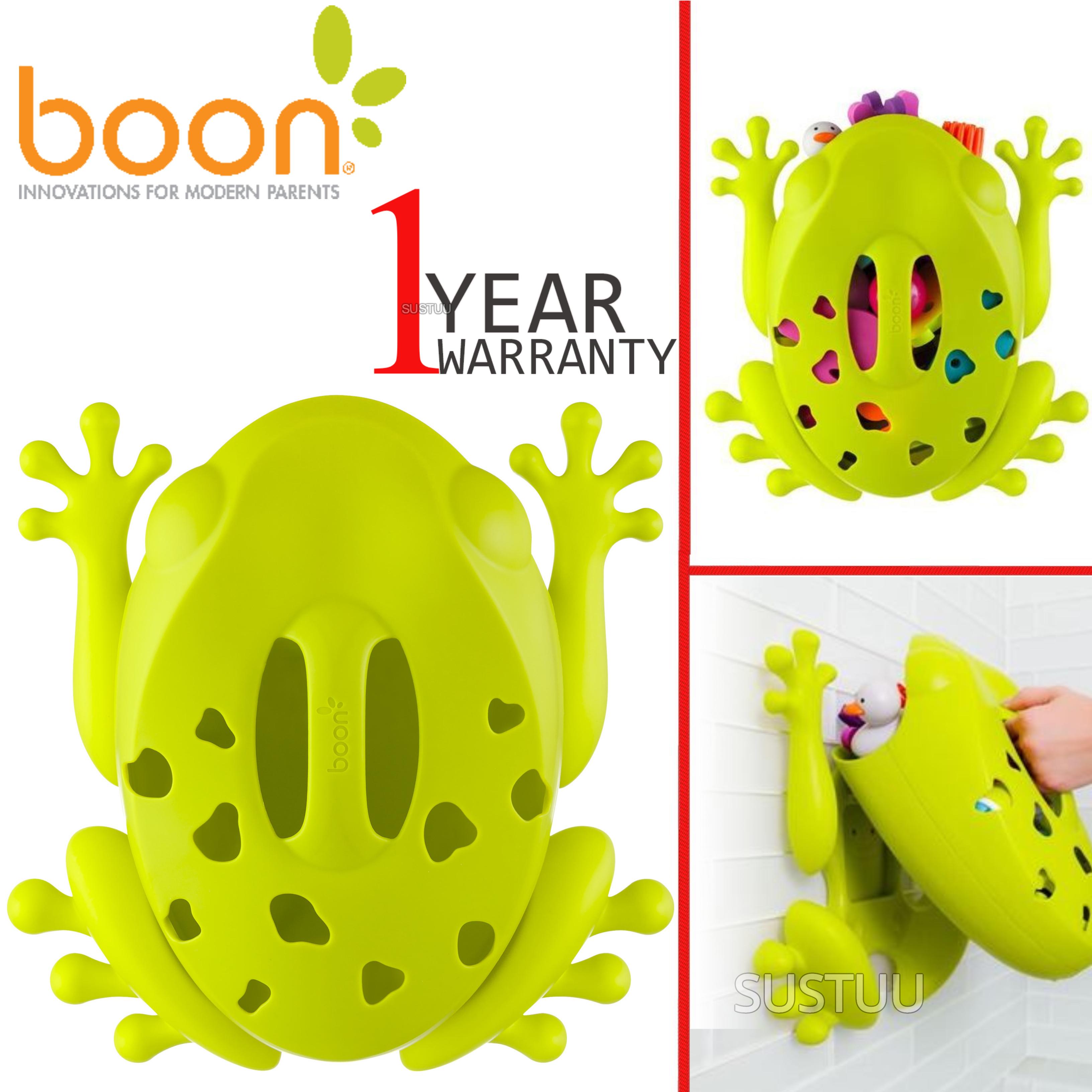 Boon Frog Pod Bath Storage Scoop Toy Drain Wall Mount Bathtime Organiser No PVC