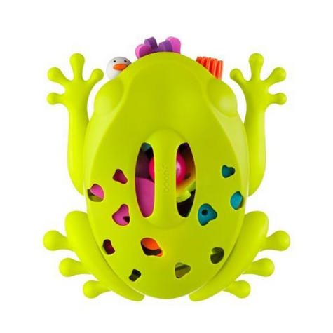 Boon Frog Pod Bath Storage Scoop Toy Drain Wall Mount Bathtime Organiser No PVC  Thumbnail 3