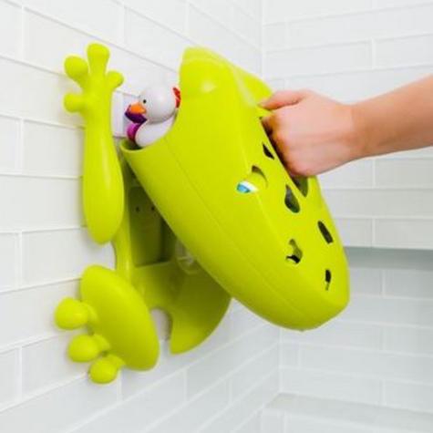 Boon Frog Pod Bath Storage Scoop Toy Drain Wall Mount Bathtime Organiser No PVC  Thumbnail 4