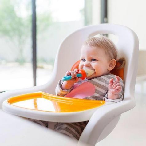 Boon Pulp Blue Orange|Silicon Baby Food Feeder|Phthalate PVC BPA Free|6+ Month Thumbnail 6