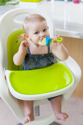 Boon Pulp Green Blue|Silicon Baby Food Feeder|Phthalate PVC BPA Free|6+ Month Thumbnail 3