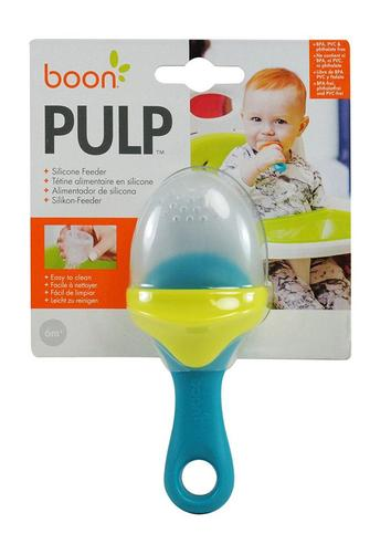Boon Pulp Green Blue|Silicon Baby Food Feeder|Phthalate PVC BPA Free|6+ Month Thumbnail 5
