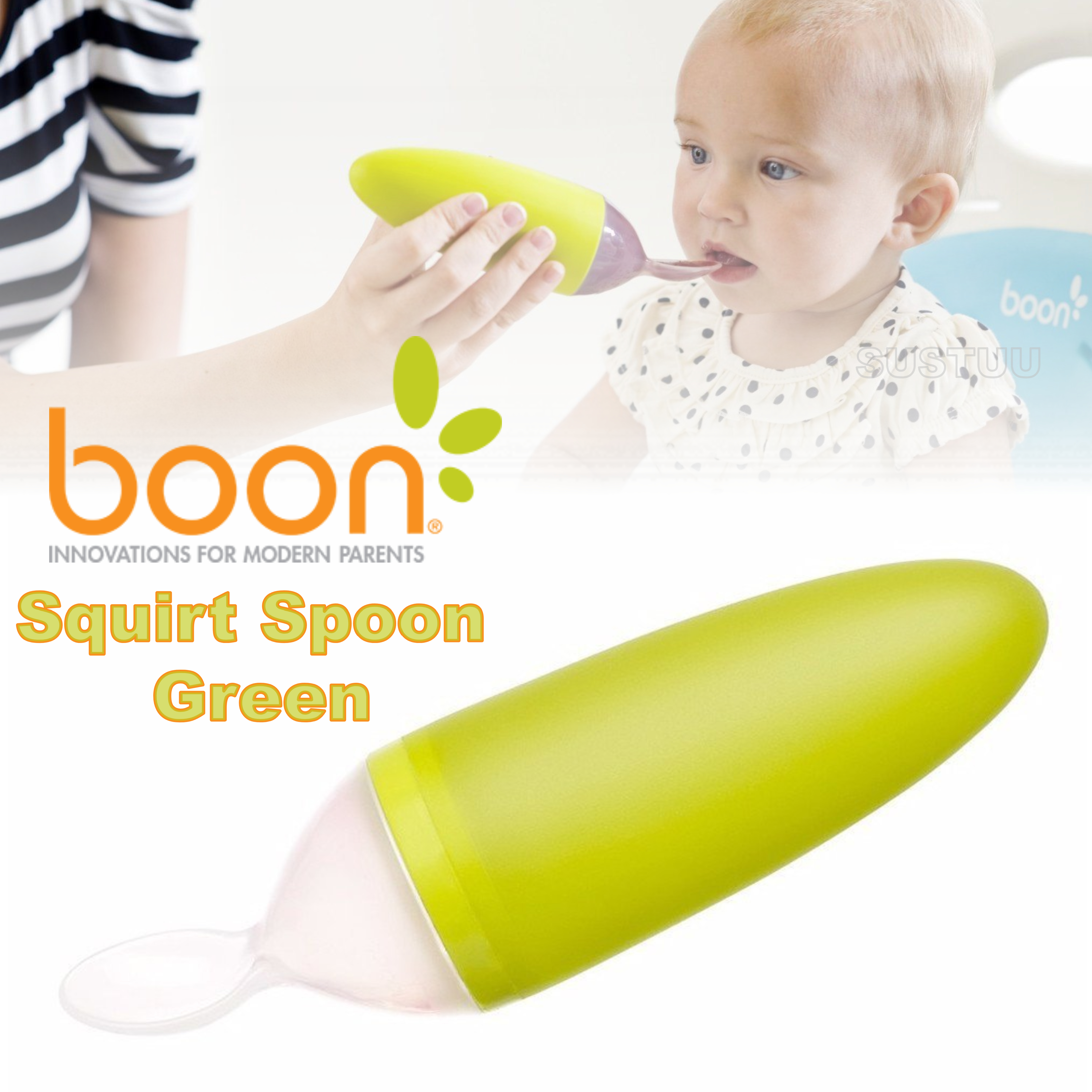 Boon Squirt Spoon | Squeeze Baby Food Feeding | Dispensing Spoon | Feeding Accessory