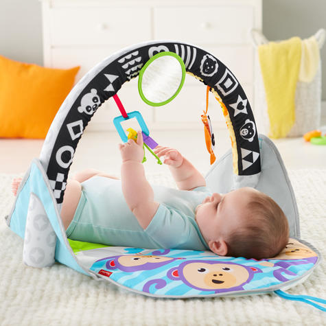Fisher-Price Puppy n Pals Learning Gym | Light& Musical Playmat | Soft &Comfy | Washable | New Thumbnail 3