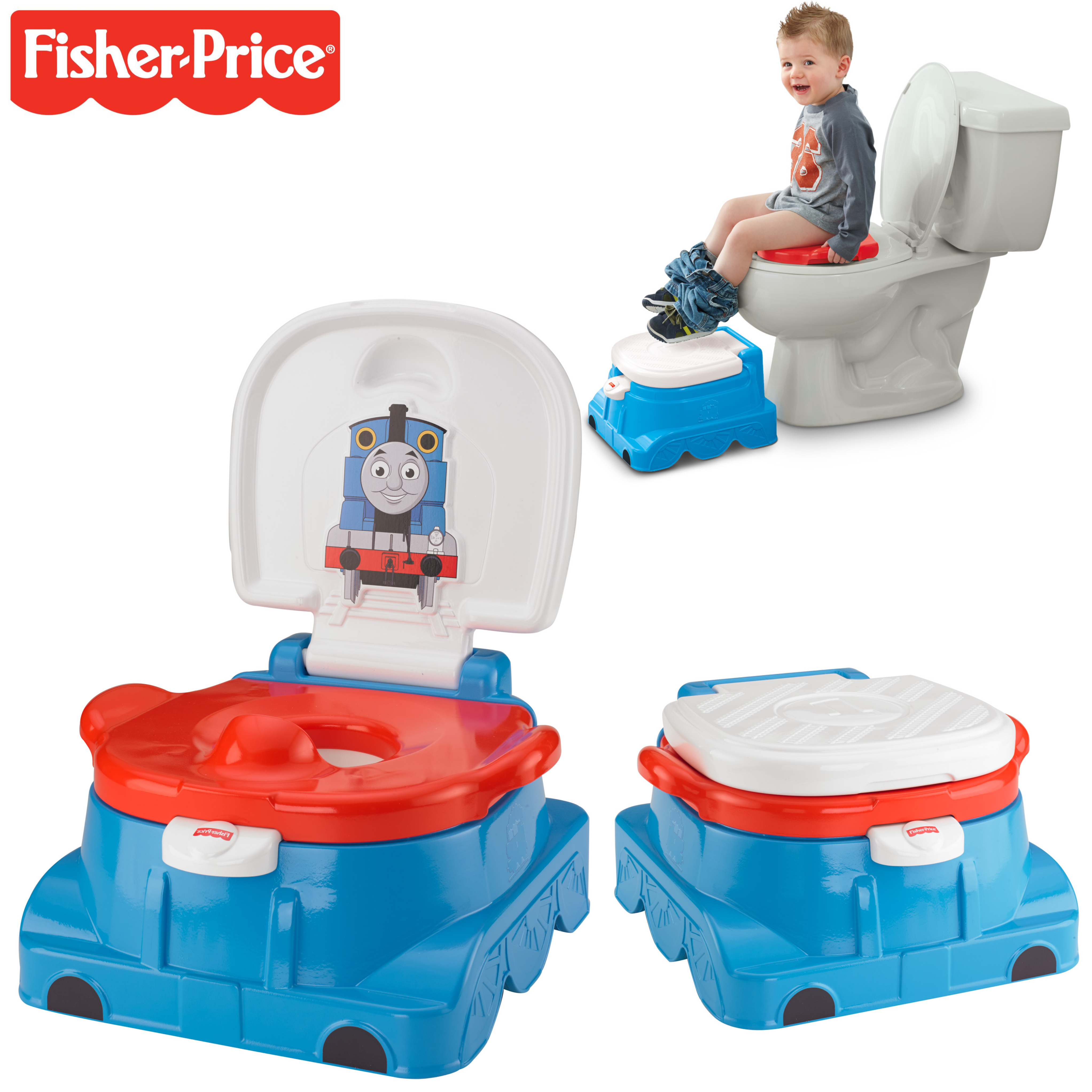 Fisher-Price Thomas and Friends Rewards Baby Potty/Toilet Trainer | Sounds & Tunes | New