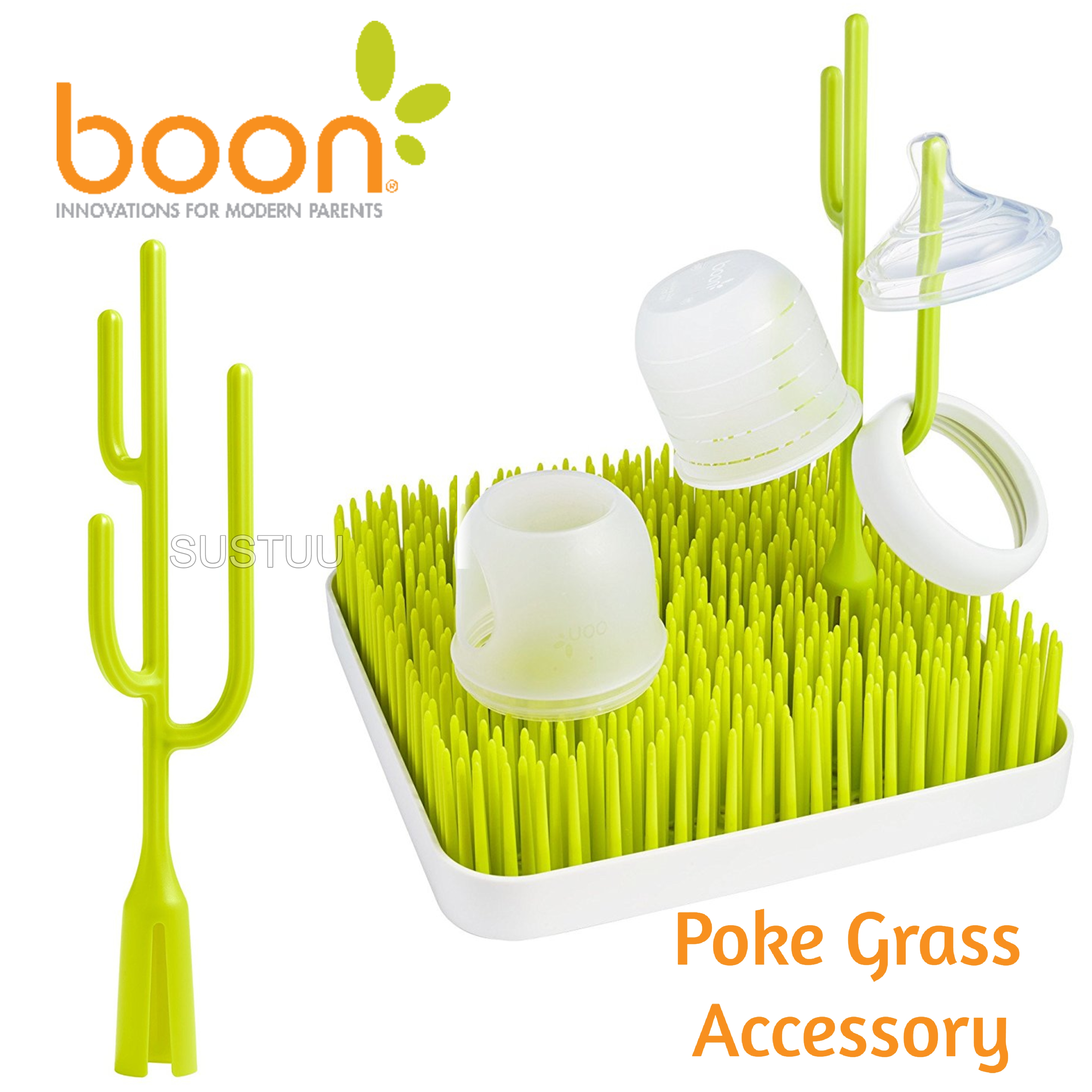 Boon POKE Grass Accessory|Kid's Bottles / Cups / Small Sippy Holder|BPA Free|New