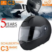Schuberth C3 Basic Motorcycle Flip Front Unisex Helmet|ECE-R 22.05 Approved|Matt Black