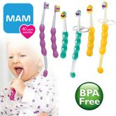 MAM Learn to Baby Brush Set | Baby's Toothbrush | Dental Hygiene Kit | Teeth Cleaner