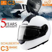 Schuberth C3 Basic Motorcycle Flip Front Unisex Helmet|ECE-R 22.05 Approved|White