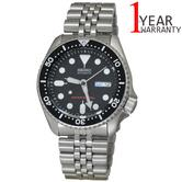 Seiko Mens Automatic 200M Divers Analouge Watch|Stainless Steel Belt|Black Dial|