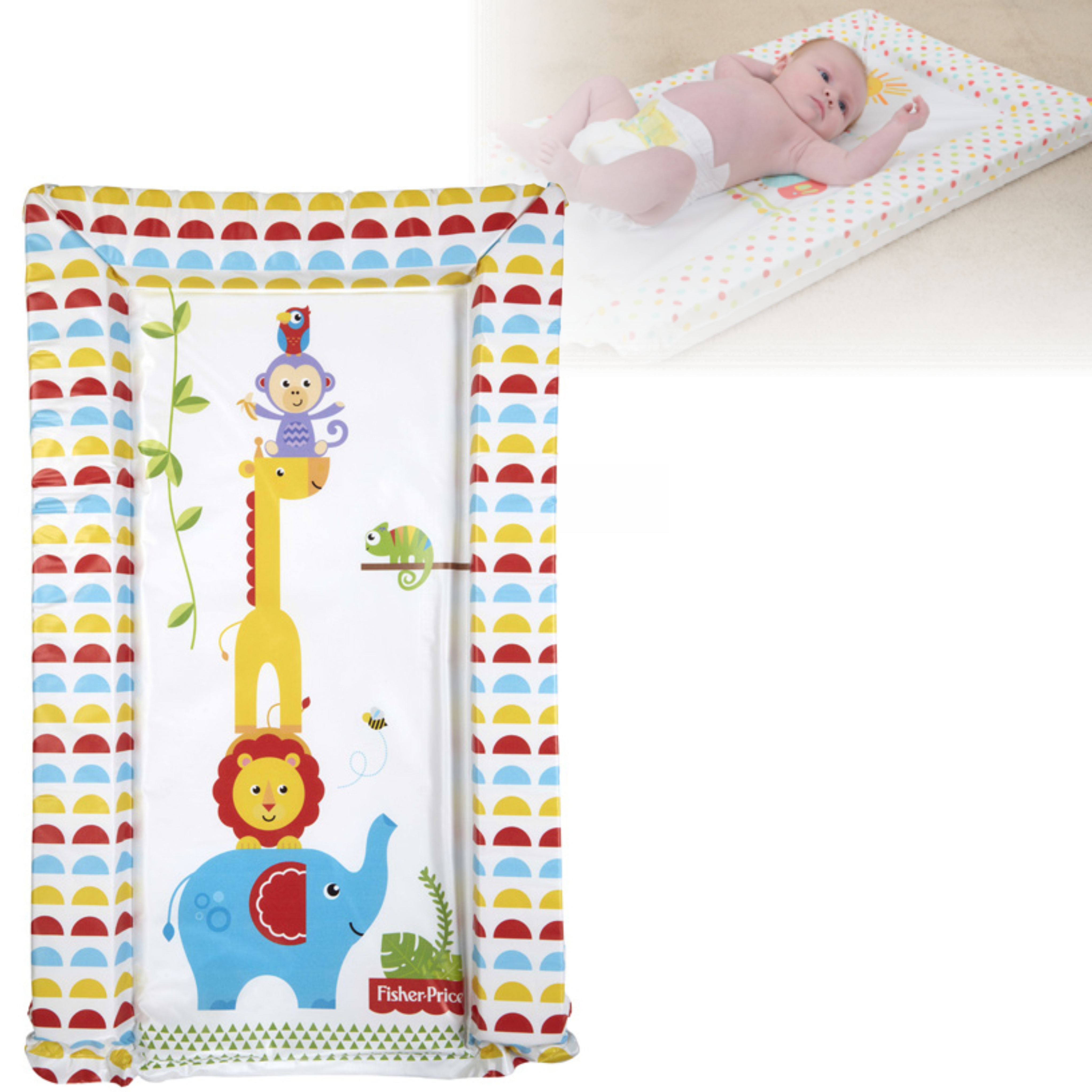 Fisher-Price Baby's Nappy Changing Mat - Reach the Sky | Comfort+Easy To Wipe | 0m+