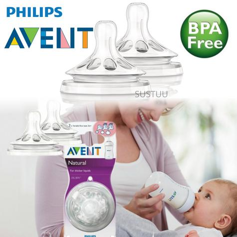 Philips Avent Natural Teat Vari Flow|Baby's Feeding Accessories|Twin Valve|2pk| Thumbnail 1