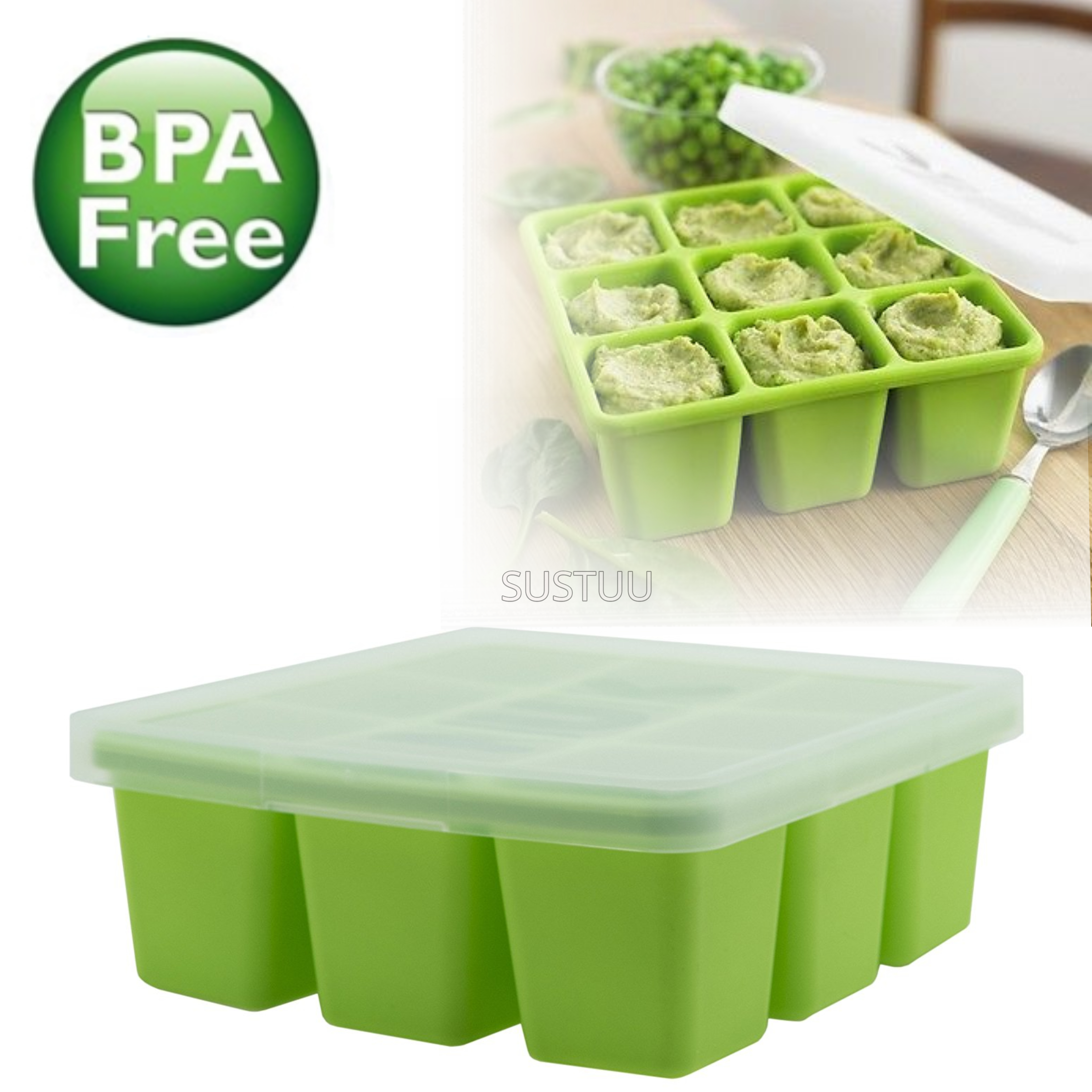 Annabel Karmel Baby Food Storing/Freezing Cube Tray | Flexible Pots | 9 X 60ml | +6m