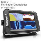"Lowrance Elite-9 Ti - 9"" LED|Marine Chartplotter/ Fishfinder|GPS/GLONASS|CHIRP Sonar|IPX7"
