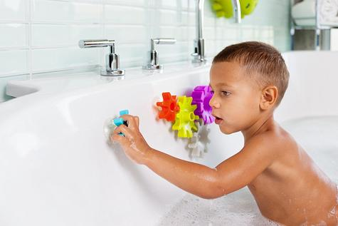 Boon COGS Water Spinning Gears Kids Bath Toy | Toddlers Bathtime Fun Activity | 5Pk Thumbnail 4