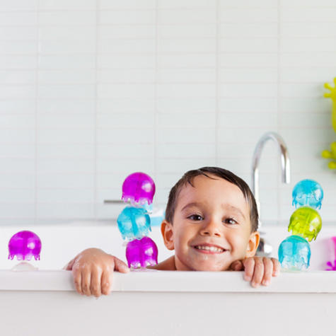Boon Jellies Suction Cup Toddlers Bath Toys | Kids Bathtime Fun Activity | Pack Of 9 Thumbnail 3