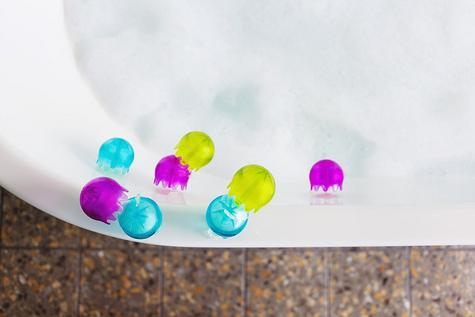 Boon Jellies Suction Cup Toddlers Bath Toys | Kids Bathtime Fun Activity | Pack Of 9 Thumbnail 4