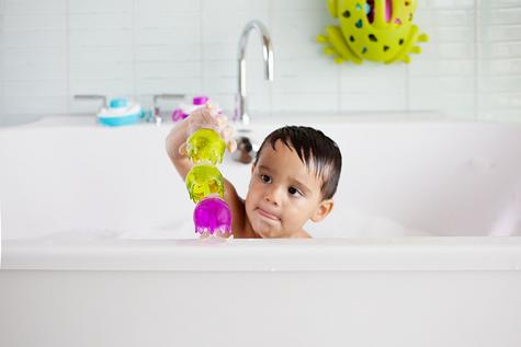 Boon Jellies Suction Cup Toddlers Bath Toys | Kids Bathtime Fun Activity | Pack Of 9 Thumbnail 5