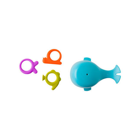 Boon CHOMP Hungry Whale Kids Bath Toy   Toddlers Bathtime Fun Activity   x4 Pieces Thumbnail 5