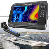Lowrance HDS-7 Carbon MFD & Skimmer/ StructureScan 3D Transducer/ Module Bundle|Chartplotter/ Fishfinder/ GPS|IPX7
