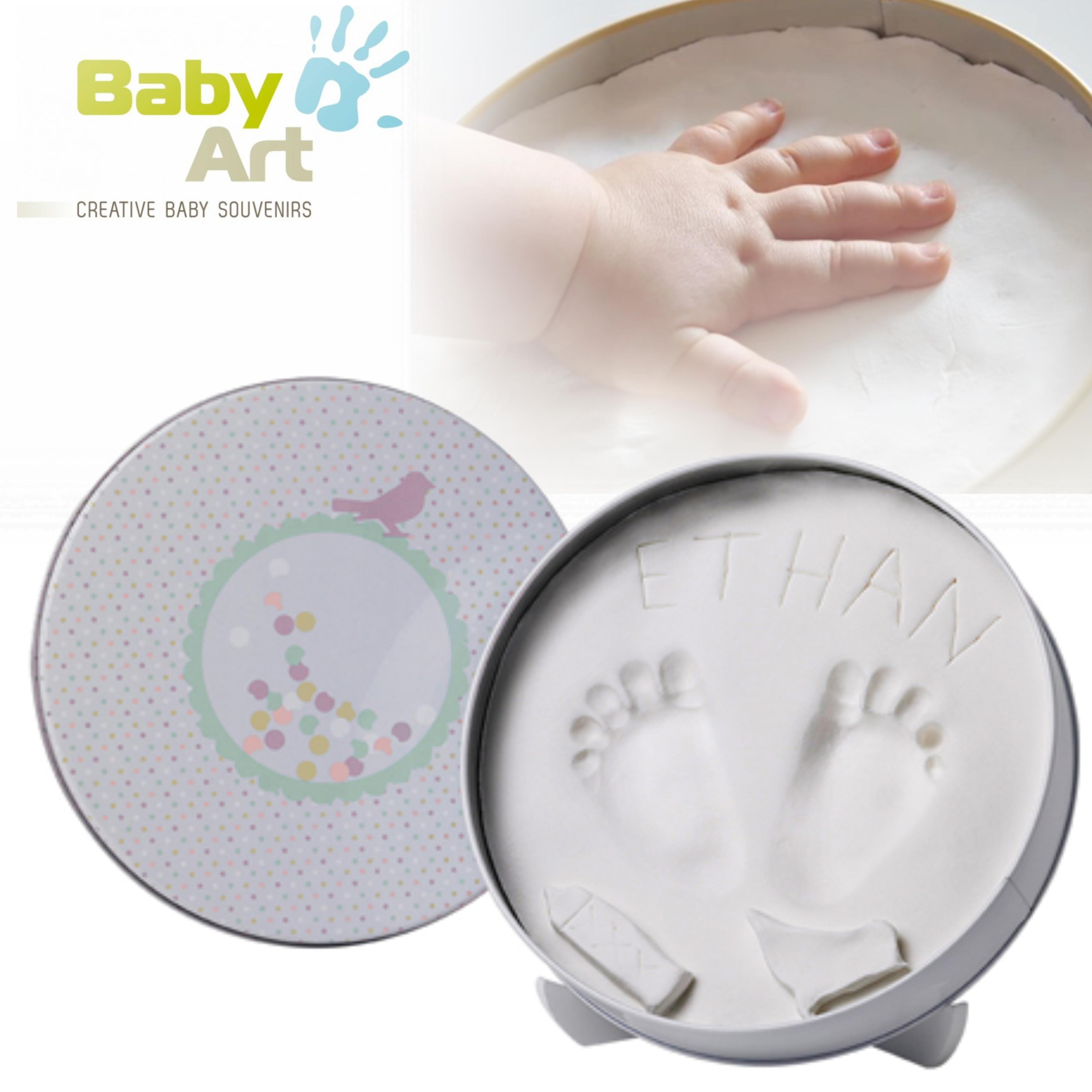 Baby Art Magic Box Confetti/Creative Souvenir | Hand/Foot Imprint Kit Of Newborn