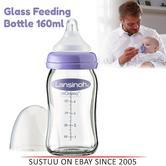 Lansinoh Glass Feeding Bottle|Natural Slow Flow Wave Teat|BPA Free|160ml|77140