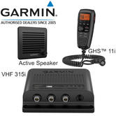 Garmin VHF Class D DSC 315i Marine Radio with GHS 11i Handset & Active Speaker