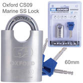 Oxford CS09 Marine Stainless Steel Lock - 60mm|Corrosion Resistant|Marine Use
