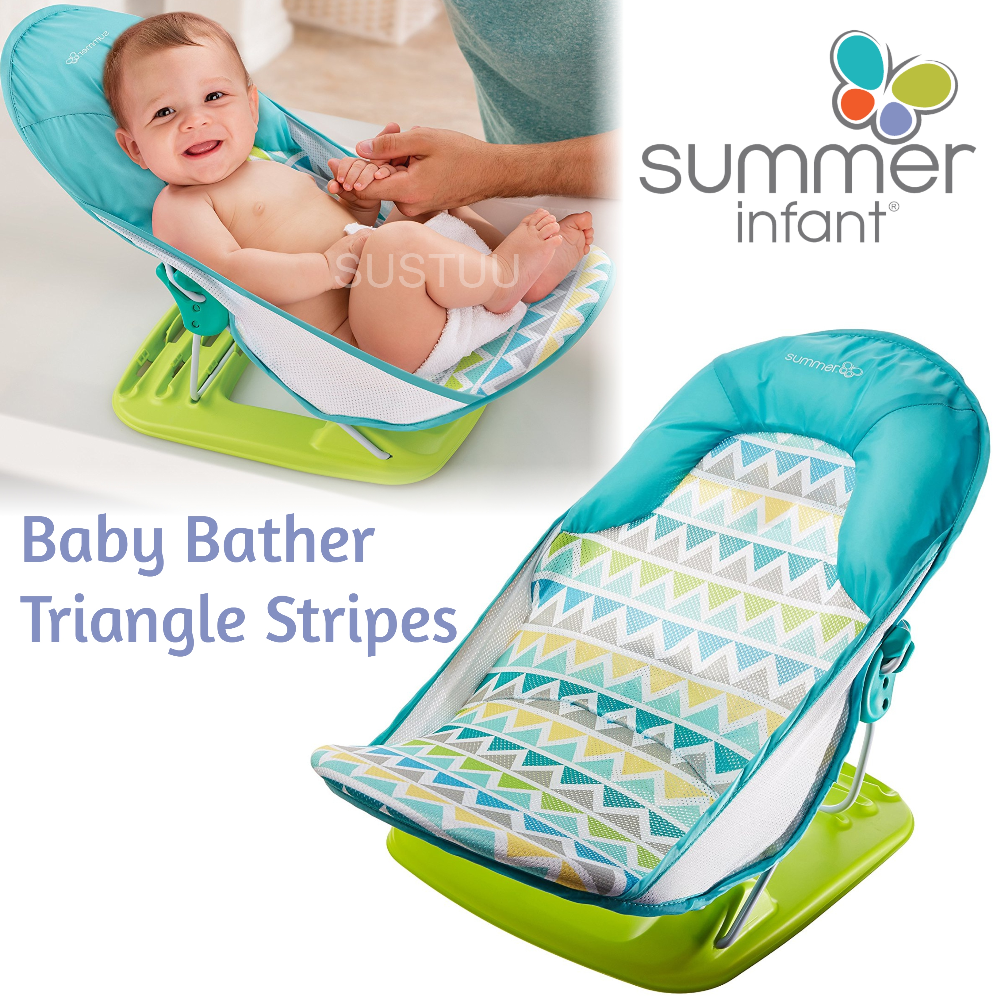 Summer Infant Baby Bather Triangle Stripes|Newborn kid\'s Head ...