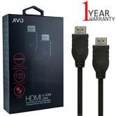 Jivo 1.5m High Speed Audio-Video HDMI Cable/ Lead | Plug | JI-1856 | Durable | Black