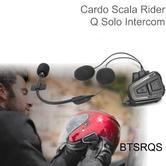 Cardo Scala Rider Q Solo Bluetooth Headset | Motorcycle Helmet Intercom System | New