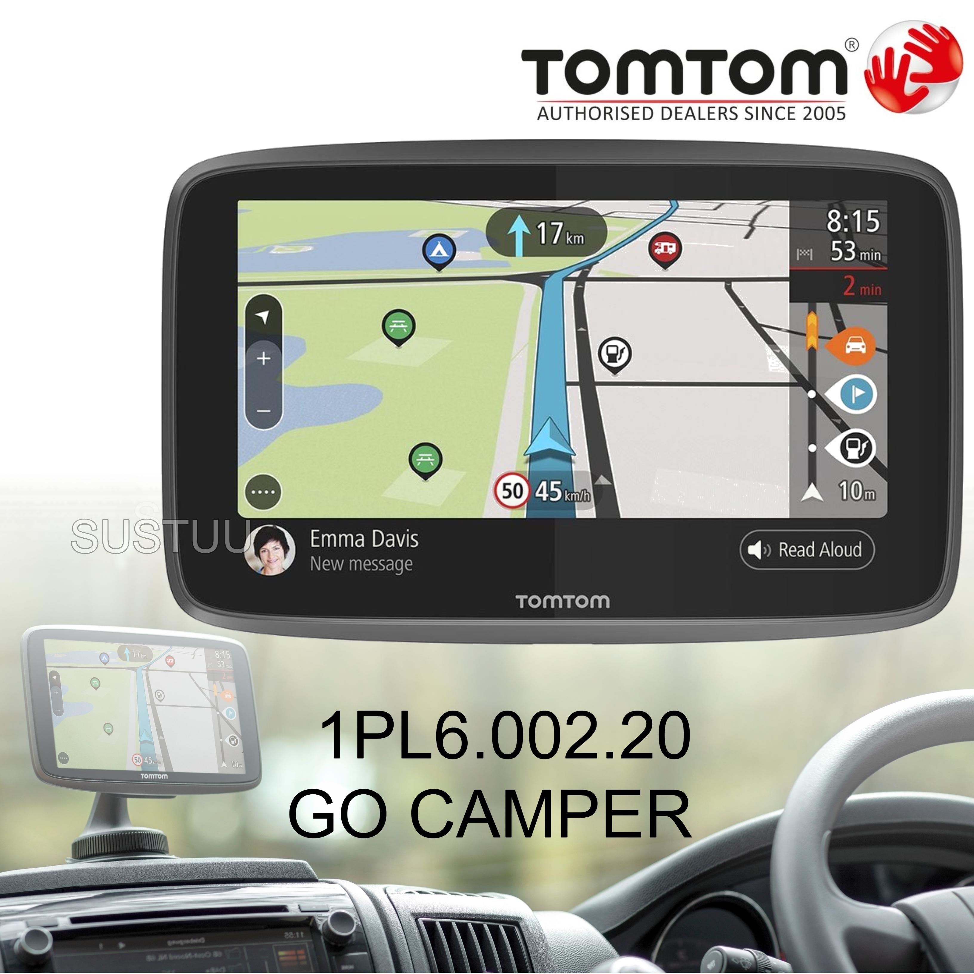 TomTom Go Camper GPS SatNav | Lifetime World Map + Traffic + Speed Cameras | Wi-Fi Update